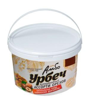 Урбеч Амбо Бутербродный Ассорти орехов 1 кг.