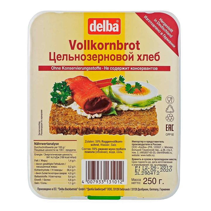 Хлеб Delba цельнозерновой, 250 гр.