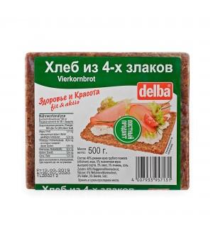 Хлеб Delba из 4-х злаков, 500 гр.