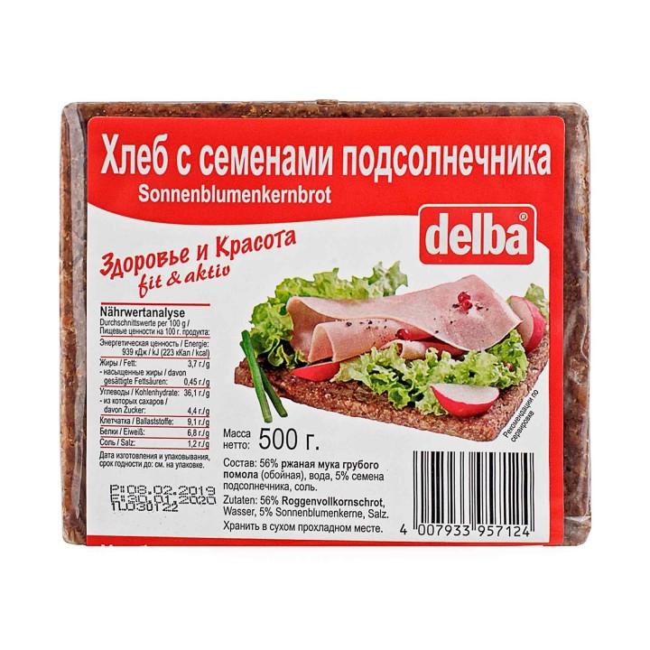Хлеб Delba с семенами подсолнечника, 500 гр.